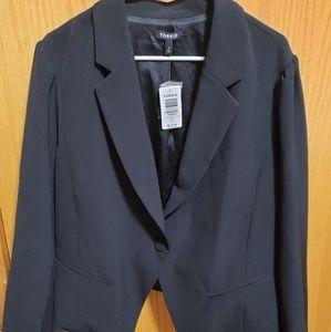 Torrid Long Sleeve Black Blazer/Suit Jacket